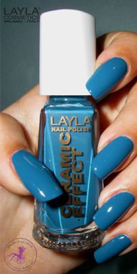 Ninja Polish: Layla - CE-25 Vintage Turquoise, from the Ceramic Effect collection