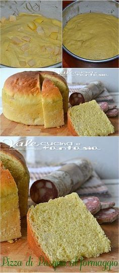 Italian Cheese Bread, Italian Easter Bread, Focaccia Pizza, Quiche, Cheese Fries, Hot Dog Buns, Italian Recipes, Food To Make, Food And Drink