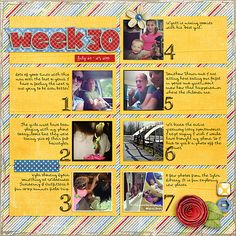 Weekly Project Templates 8 by Scrapping with Liz and Capture Life: July by Tracie Stroud