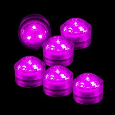 Submersible LED Lights (Set of 6 pcs) Simple Centerpieces, Wedding Centerpieces, Summer Party Games, Led Party Lights, Pink Party Decorations, Glow Party, Pink Parties, Creative Play, Pretty In Pink