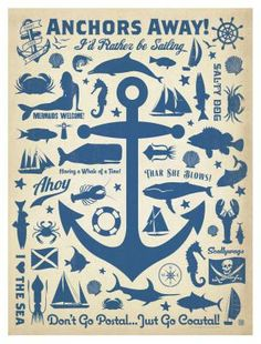 Anchor Pattern Square Poster by Anderson Design Group Wall Art Prints, Fine Art Prints, Framed Prints, Canvas Prints, Framed Wall, Anchor Canvas, Anchor Print, Image Pinterest, Anchor Pattern