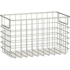 Large Wire Basket in Storage Baskets, Bins | Crate and Barrel  for my new shelves in the pantry