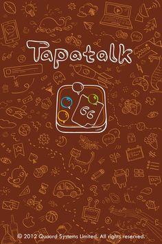 Background doodles on Tapatalk app splash image.