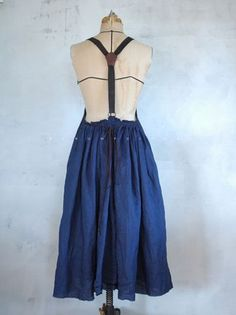 Original indigo Apron Dress