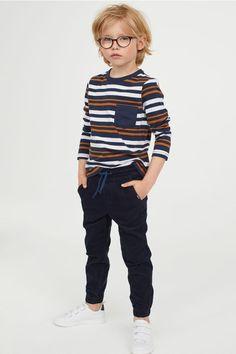 Puuvillaiset pull on -housut - Tummansininen/Vakosametti - Kids Baby Outfits, Trendy Boy Outfits, Little Boy Outfits, Little Boy Fashion, Toddler Boy Outfits, Baby Boy Fashion, Fashion Kids, Toddler Fashion, Kids Outfits