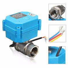 1/2Inch NPT Electric Motorized Ball Valve Stainless Steel DC24V DN15 2 Way 3