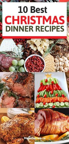 10 Christmas Dinner Recipes - Best Christmas Treats Ideas for Party - - Thinking of some Christmas dinner recipes to surprise your family? Save this awesome collection of Christmas treats ideas for a memorable family party! Best Christmas Dinner Recipes, Easy Christmas Dinner, Christmas Party Food, Xmas Food, Holiday Dinner, Christmas Treats, Holiday Recipes, Recipes Dinner, Christmas Dinner Ideas Family