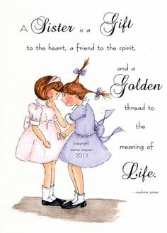 ♥❤ An eternal never ending thread, woven into the fabric of a Sisters soul.