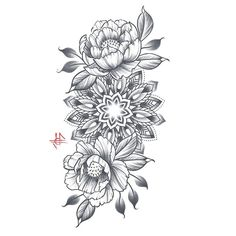 Looking forward to doing this one!  #artbyperreze #mandala #illustration #flowers #original #art #blacktattooart #onlyblackart #tattooart more at perreze.com