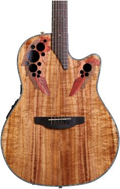 6-string Acoustic-electric Guitar with Figured Koa Top, Lyrachord Body, Nato Neck, Rosewood Fretboard, and OP-4BT Preamp with Built-in Tuner - Figured Koa