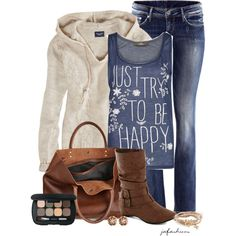 Just Try To Be Happy, created by jafashions on Polyvore