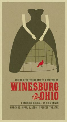 """Winesburg Ohio Design by Nathaniel Cooper. """"Where repression meets expression"""""""