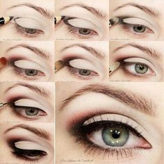 amazing what you can do with just eyeliner a brush and some shadow!