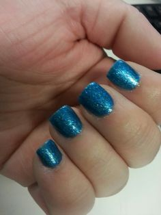 Electric Neon Blue Nail Polish