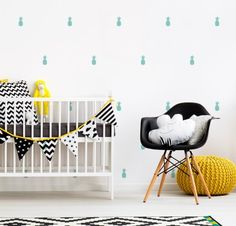 LITTLE ANANAS Toddler Bed, Kids Rugs, Furniture, Home Decor, Vinyls, Colors, Crosses, Pineapple, Child Bed