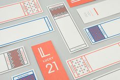 Lucky 21 - film production company branding. Blok Design is Toronto, Canada based studio specializing in the development of sophisticated visual and brand