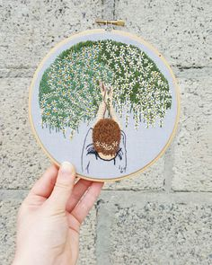 Reach. Embroidery