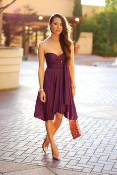 Gold Color - What Color Shoes to Wear with Purple Dress for Bridesmaids? - EverAfterGuide