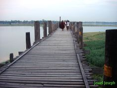 1.2 km wooden footbridge (longest teak bridge in the world) built by the mayor U Bein salvaging the unwanted teak columns from the old palace during the move to Mandalay