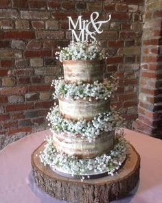 Surprise First Wedding Anniversary Cake! Statement nearly naked/ semi naked wedding cake finished with gorgeous silk gypsophila Black Wedding Cakes, Wedding Cake Rustic, Rustic Cake, Beautiful Wedding Cakes, Our Wedding, Dream Wedding, Wedding Ideas, Wedding Gifts, Christmas Wedding Cakes