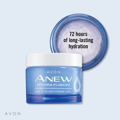 AVON's Anew Hydra Fusion De-Puffing Eye Serum, a Marie Claire award winner, features a unique cooling ceramic applicator and contains caffeine & hyaluronic acid to instantly de-puff the delicate eye area. Liquid Eyeshadow, Am Pm, Avon Representative, Eye Serum, Hyaluronic Acid, Skin Treatments, Medium, Skin Care, Avon Products