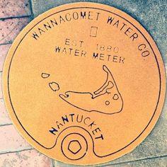 Nantucket Water Meter Doormat RUST