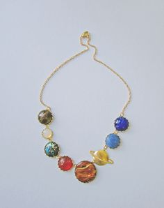 Solar System Necklace (sold out) Perfect for Ms. Frizzle costume