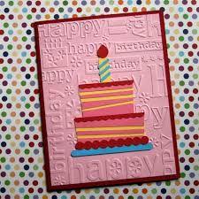 Happy Birthday Embossing Folder Cards