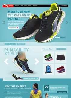 Great web interface design for Puma