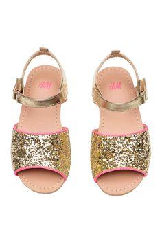 Glittery sandals - Gold - Kids | H&M CA