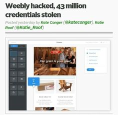"""""""The web design platform Weeblywas hacked in February according to the data breach notification site LeakedSource. Usernames and passwords for more than 43 million accounts were taken in the breach although the passwords are secured with the strong hashing algorithm bcrypt.  Weebly said in an email to customers that user IP addresses were also taken in the breach. We do not believe that any customer website has been improperly accessed Weebly said in the notice to users.The company also said…"""
