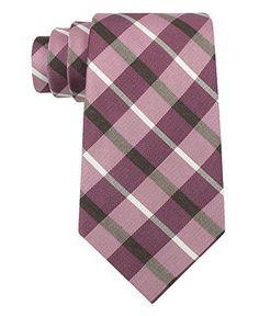 Calvin Klein Tie, Carosel Plaid - Mens Ties -