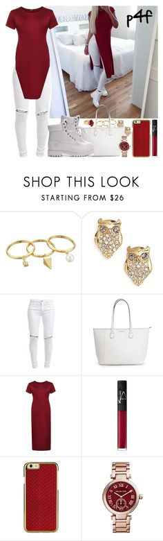 """Passion 4Fashion: Soooooo bored rn :/"" by shygurl1 ❤ liked on Polyvore featuring Rebecca Minkoff, Kate Spade, Karlsson, FiveUnits, Timberland, NARS Cosmetics, Michael Kors and Lola Rose"