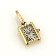 Cartier Charms - Up to off at Tradesy Tank Watch, Vintage Lanterns, Cartier Tank, Cute Charms, Gold Crown, Gold Pendant, 18k Gold, Sapphire, Pendants