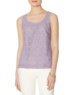 Lace Front Sleeveless Top from THELIMITED.com