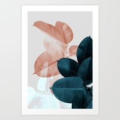 Wonderful art print for your nursery or kids room! I love the colors and the motif! Large florals are still rocking! (affiliate) . #kidsroom #nursery #artprint #affiliate #society6