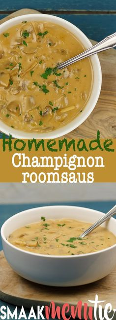 Champignonroomsaus#recipe #recept Baking Center, Other Recipes, Pesto, Love Food, Barbecue, Stuffed Mushrooms, Curry, Food And Drink, Yummy Food