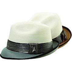 Santana by Carlos Santana Men's Two-tone Banded Fedora Hat