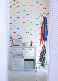 DIY wallpaper via A Subtle Revelry