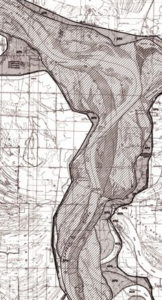 Alluvial Bends: The Arkansas River. More hypnotically beautiful Army Corps of Engineers cartography].