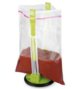 No more messes when pouring liquids into bags? Yes please.