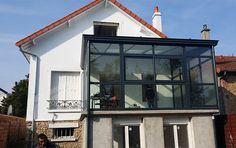 extension de maison sur terrasse en hauteur coin cuisine choisy le roi 94 maisons et jardins pinterest verandas - Extension Maison En Hauteur