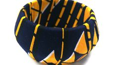 Check out this item in my Etsy shop https://www.etsy.com/listing/247540962/blue-yellow-ankara-bangle