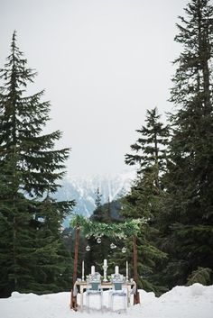 Grouse Mountain Wedding Inspiration /styled shoot - by Vancouver wedding photographers Jelger + Tanja