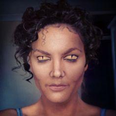 Michael Jackson thriller were wolf halloween makeup