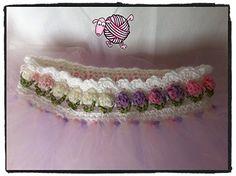 Flower+Girl+Tutu Crochet pattern from dearest debi Crochet Girls, Crochet Baby Clothes, Cute Crochet, Crochet For Kids, Knit Crochet, Crochet Hats, Tunisian Baby Blanket, Baby Blanket Crochet, Tutu Pattern
