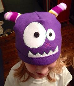 Child's Fleece Monster Hat by LadybugClothing on Etsy, $15.00