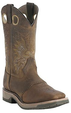 Double H® Men's Old Folklore Brown Saddle Vamp Square Toe Western Boot | Cavender's Boot City