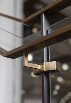 Amuneal: Magnetic Shielding & Custom Fabrication | Outrigger Stair System Stair Ladder, Stair Spindles, Staircase Railings, Stairways, Stairs Architecture, Architecture Details, Glass Handrail, Home Stairs Design, Track Lighting Fixtures