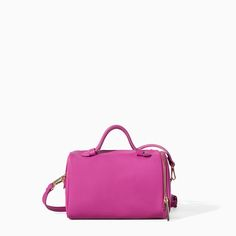 MINI BOWLING BAG WITH ZIPS from Zara